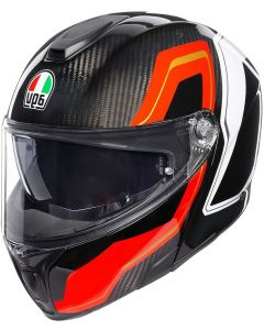 AGV Sportmodular Sharp Carbon/Red/White 007