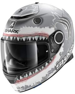 Shark Spartan 1.2 Lorenzo WHT Matt Silver/White/Anthracite SWA