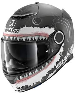 Shark Spartan 1.2 Lorenzo WHT Matt Black/White/Anthracite KWA