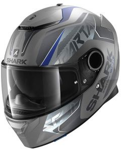 Shark Spartan 1.2 Karken Matt Antracite/Blue/Black ABK