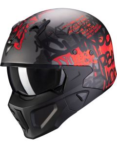 Scorpion Covert-X Wall Matt Dark Silver/Red