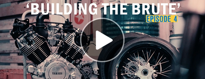 caferacer XV1000 building the brute 04